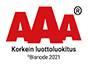 AAA-luottoluokitus bisnode 2021
